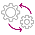 Moving gears icon