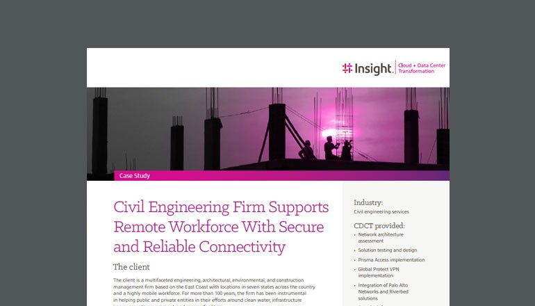 Civil Engineering Firm Supports Remote Workforce cover